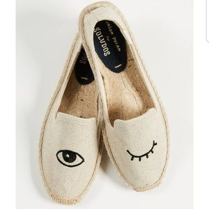 Soludos wink embroidered shoes